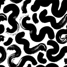 Squiggly Doodle Pattern Wallpaper