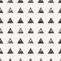 Stamped Triangle Watercolor Pattern Wallpaper