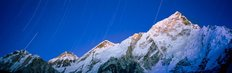Star Trails Over Snowcapped Nuptse And Mt Everest Range Wall Mural