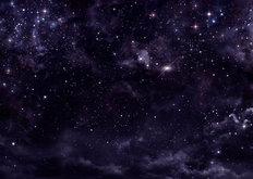 Starry Night Sky In Deep Outer Space Mural Wallpaper