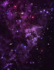 Purple Space Smoke Wallpaper Mural