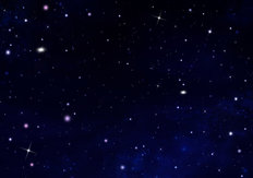 Stars In The Dark Night Sky Mural Wallpaper