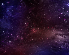 Red And Blue Space Sky Mural Wallpaper