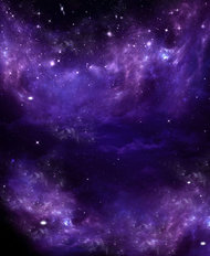 Starry Purple Clouds Wallpaper Mural