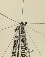 "Starting to ""Jump the Derrick,"" Empire State Building Wall Mural"