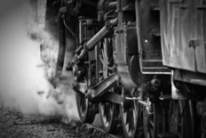 Steam Train Mural Wallpaper
