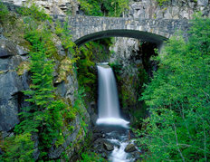 Stone Bridge Over Christine Falls Wall Mural