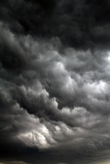 Black Storm Clouds Wallpaper Mural