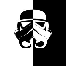 Storm Trooper Helmet Wall Mural