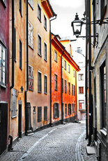 Streets of Stockholm, Old Town Wall Mural