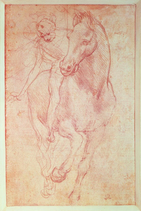 Study Of A Horse And Rider Wall Mural