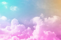 Sugar Sweet Clouds Mural Wallpaper