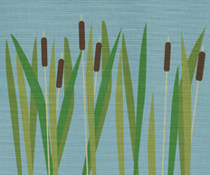 Summer Cattails Wallpaper Mural