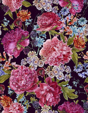 Floral Summer Pattern Wallpaper