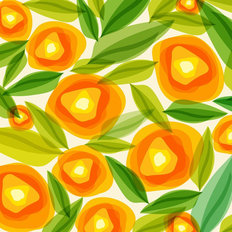 Summer Orange Flowers Wallpaper