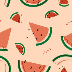 Summer Watermelon Pattern Wallpaper