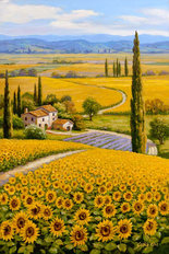 Sunflower Field Wall Mural