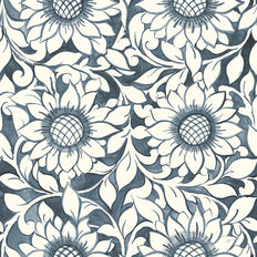 Sunflower Trellis Pattern Wallpaper
