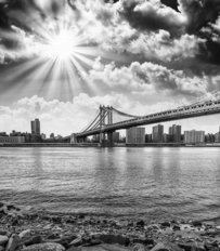 Black And White Vista of NYC Wallpaper Mural