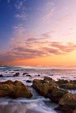 Sunrise Landscape Of Ocean Wall Mural