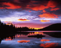 Sunrise on Reflection Lake Wall Mural