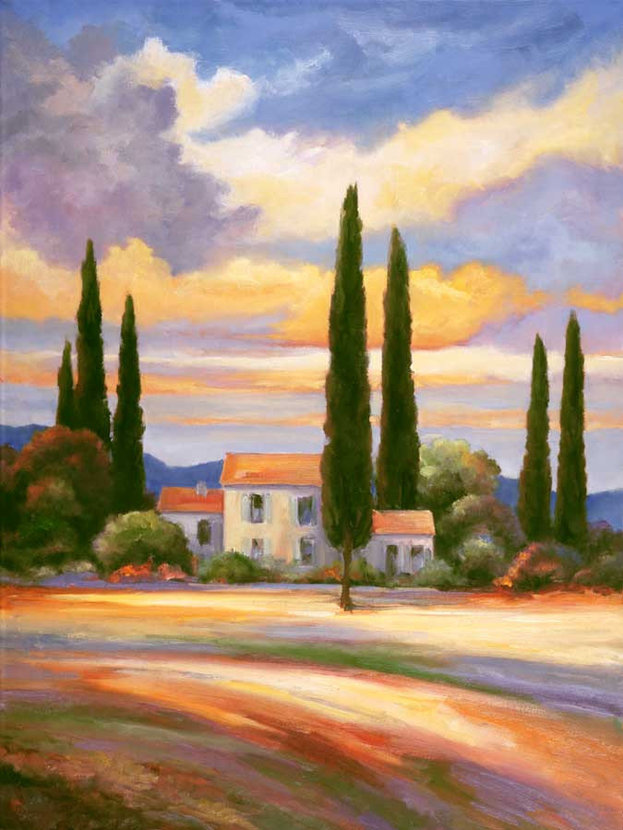 Sunset In Provence Wall Mural