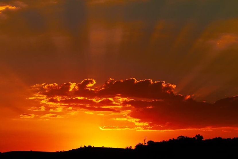 Sunset in South Africa Mural Wallpaper