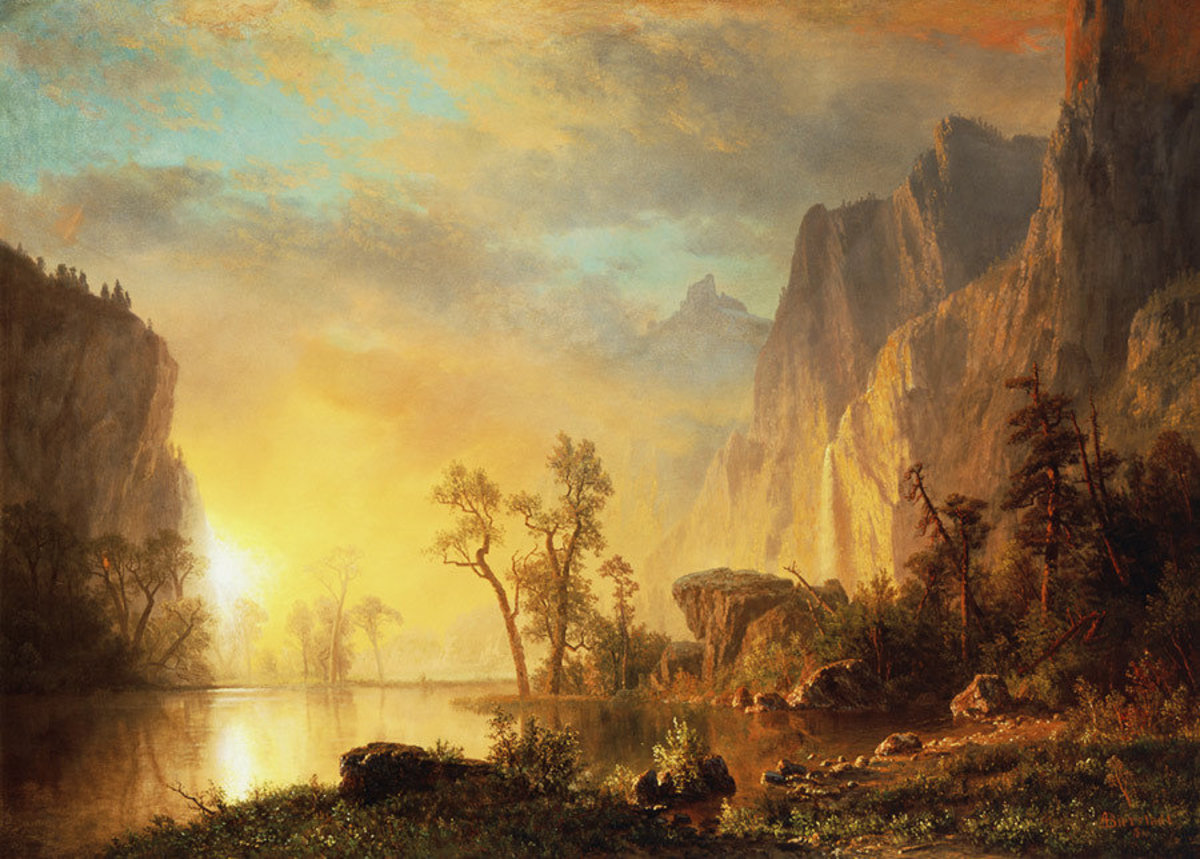 Sunset In The Rockies Wall Mural