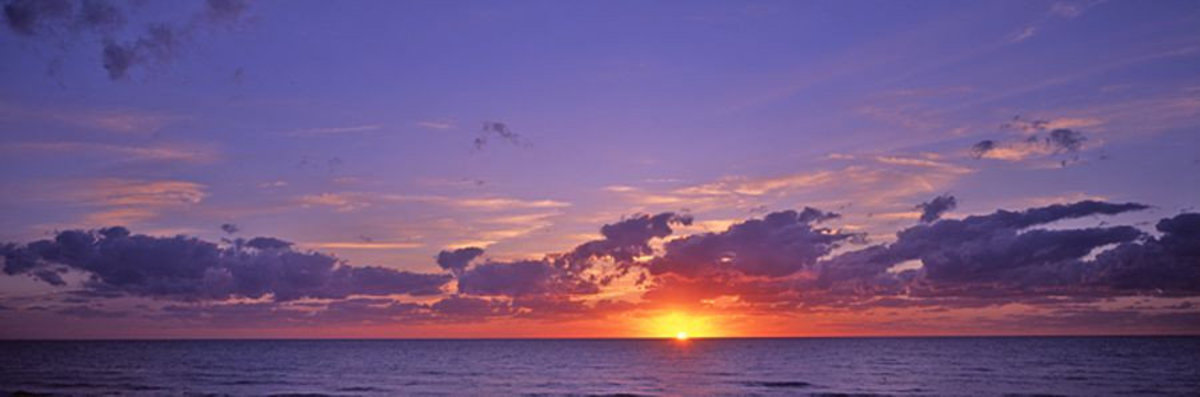 Sunset Over Gulf Of Mexico Mural Wallpaper