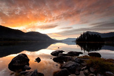 Sunset Over Lake Wenatchee Wall Mural