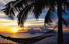 Sunset Over Moorea, French Polynesia 2 Wallpaper Mural
