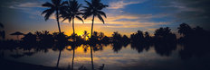 Sunset Over Moorea, French Polynesia Wallpaper Mural