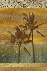 Sunset Palm 2 Wall Mural