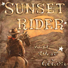 Sunset Rider Wallpaper Mural
