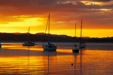 Sunset, Russell, Bay Of Islands Mural Wallpaper