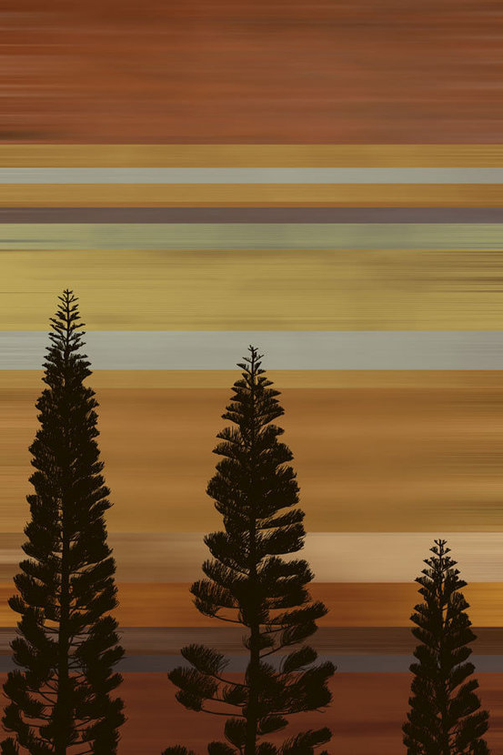 Sunset Tree Silhouette Wall Mural