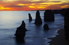 Sunset, Twelve Apostles, Port Campbell 2 Mural Wallpaper