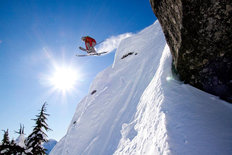 Sunshine & Ski Jump At Stevens Pass Wall Mural