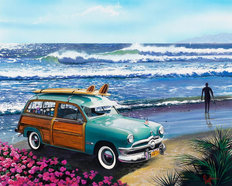 Surf City Mural Wallpaper