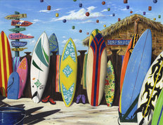 Surf Shack Wall Mural