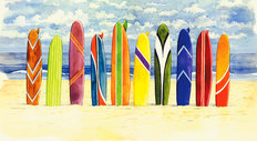 Surfboards Wallpaper Mural
