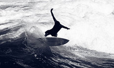 Surfer Riding Waves Mural Wallpaper