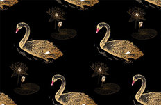 Swan Lake Pattern Wallpaper