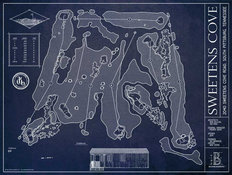 Sweetens Cove Golf Club Blueprint Wall Mural