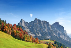 Swiss Alps Autumn Mural Wallpaper
