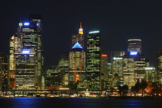 Sydney At Night Wallpaper Mural