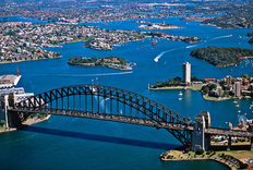 Sydney Harbor Bridge-Aerial Mural Wallpaper