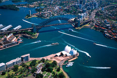 Sydney Harbor Bridge & Opera House Wallpaper Mural