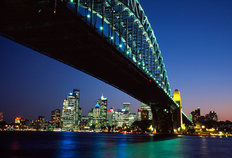 Sydney Harbour Bridge At Dusk Wall Mural