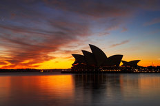 Sydney Opera House At Dawn (Wall) Wallpaper Mural
